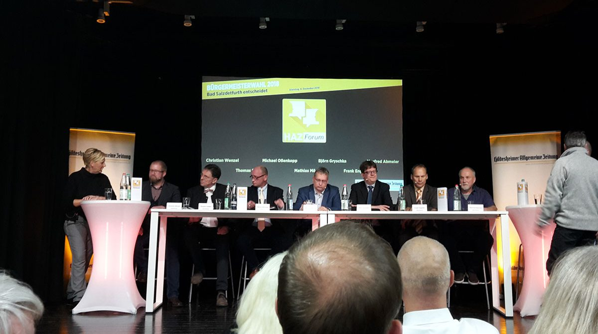 Die Bürgermeisterkandidaten beim HAZ-Forum
